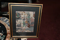 Antique Vintage Asian Persian Middle Eastern Batik Tapestry #1 Religious Men