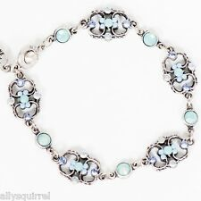 NEW ANNE KOPLIK PACIFIC BLUE & AIR BLUE SWAROVSKI CRYSTAL BRACELET MADE IN USA