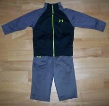 Under Armour Boys Size 12 Months 2 Piece Jacket & Pants Gray/Black Excellent!