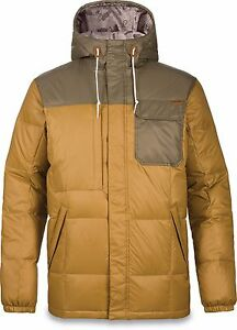 Dakine FREMONT II DOWN Mens Zip/Snap Jacket Large Buckskin Capers NEW