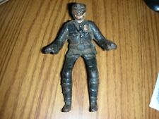 Antique Hubley Cast Iron Policemen Motorcycle Side Car Driver Figure