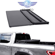 Soft Tri-Fold Truck Bed Tonneau Cover For Toyota Tacoma 2016-2019 5ft Short Bed