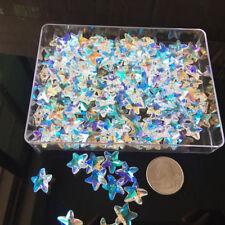20Pcs Aurora Rainbow Fire Polish Crystal Star Pendant Beads 14MM Top Drill DIY