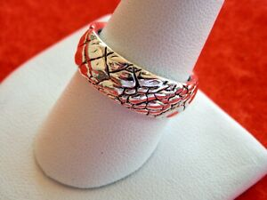 DAVID YURMAN Men's 8.5mm Gator Band Ring in Sterling Silver Size 10