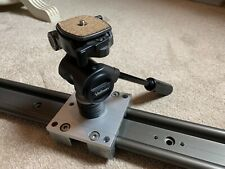 Camera Track Dolly Slider Rail - Custom Made - IGUS Rail and Velbon Head