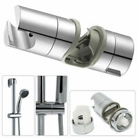 Universal Adjustable 18 to 25mm Chrome Shower Rail Head Slider Holder Bracket UK