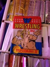 1987 Topps WWF Wrestling Wax Pack as pictured