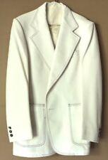 Towncraft White Vintage Summer Blazer Jacket Sportcoat Patriotic Red Blue Stitch