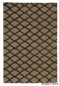 Marina Rope Netting Pattern 4'x6' Jute Rug