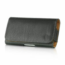 For Samsung Galaxy S4 - BLACK Leather Case Belt Clip Horizontal Pouch Holster
