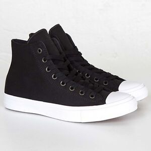 Converse All Star Chuck Taylor II 2 Canvas Unisex Shoes Hi Top  Black 150143C
