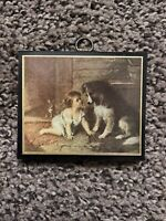 Playmates by George Augustus Holmes - Child with Dog Can't You Talk Wall Hanging