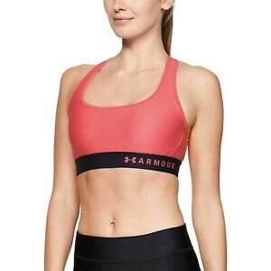Under Armour Womens Watermelon Mid Support Padded Crossback Sports Bra Sz L $35