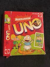 90's Nickelodeon Uno Card Game w/ box(Angry Beavers, Rugrats, Hey Arnold!) Read