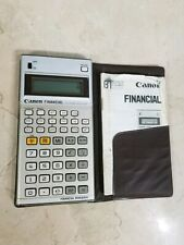 Vtg Canon Electronic Financial Manager Calculator Tested Free Shipping ~K6