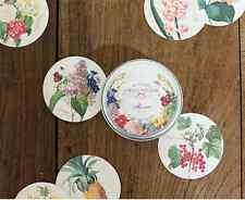 Nacoo's Kawaii Circle Label Point Sticker Set ( 48 pcs in tin case ) - Flower