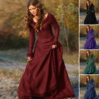 Vintage Women Medieval Long Sleeve Prom Ball Gown Renaissance Gothic Dress