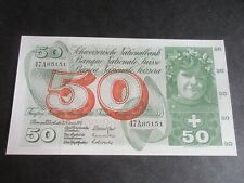 More details for switzerland 1954-61 issue, 50 francs, dated 7.2.74, sig 42 - p48n- auncirculated
