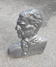 SFRJ YUGOSLAVIA (1945 - 1992) ORIGINAL ALUMINIUM DESK BUST OF JOSIP BROZ TITO