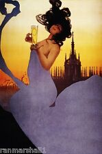 After Midnight Beer Wine Champagne Advertisement Art Poster Print