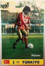 1980s RIDVAN DILMEN TURKIYE TURKEY NATIONAL FOOTBALL TEAM SOCCER POSTCARD
