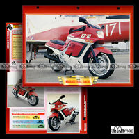 #051.03 Fiche Moto KAWASAKI ZX-10 TOMCAT 1988-1990 Motorcycle Card
