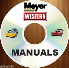 MEYER & WESTERN Snow Plow SNOWPLOW Electrolift Manual OWNER SERVICE 300+ MANUALS