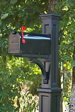 Mayne Newport Black post, with black mailbox