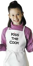 Cute Kids Apron Kiss The Cook Children's Kitchen Aprons by CoolAprons