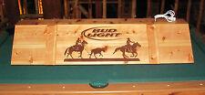 Team Roping Horse Bud light Pool Table Poker Billiards Light