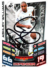 Swansea City F.C Ashley Williams Hand Signed 12/13 Premier League Match Attax.