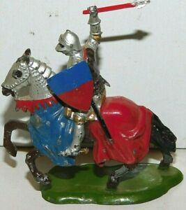 Old BRITAINS 1950s Lead, Mounted Knight of Agincourt With Mace Set #1659, N