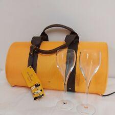 More details for veuve clicquot city traveller champagne chiller carry case bag/holder/2 glasses.