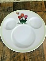 Disney Cruise Line Mickey Mouse Multi Slot Dinner Plate Enchanted Garden Kids