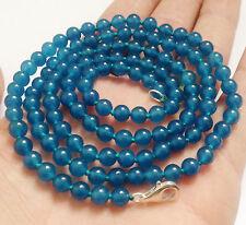 cadeau d'anniversaire ! 6mm bleu apatite ronde perles collier 90cm