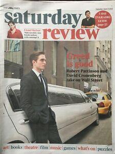 THE TIMES REVIEW ROBERT PATTINSON DAVID CRONENBERG JUNE 2012 BRAND NEW
