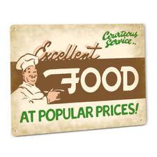 Excellent Food Chef Metal Sign Restaurant Cafe Diner Kitchen Cook Bar Buffet