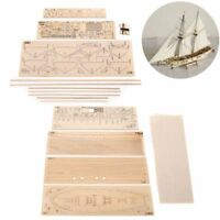 1:100 Scale Handmade Wooden Wood Sailboat Ship Kits Wooden Ship Model Kit DIY