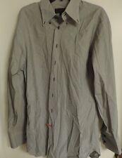Robert Talbott Men's XL Blue Mini Check Long Sleeve Dress Shirt