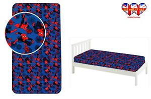 Fitted Sheet Spiderman Single Bed%100 Cotton,Official Licensed(200x90x25cm