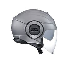 CASCO AGV DEMIJET FLUID SOLID MATT GREY TAGLIA L