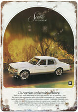 "Cadillac Seville White 10"" x 7"" Reproduction Metal Sign"