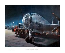 Enola Gay WW2 Early Morning Mission Litho Signed Paul Tibbets Dutch Van Kirk Coa