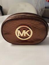 Michael Kors Kosmetiktasche Etui Metallic Braun