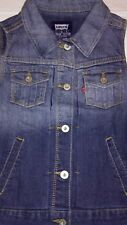 New Levi's Vest Girls 12-13 years Large Blue Jean Lightscape