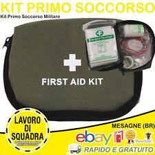 Tasca MEDICA Kit Primo Soccorso COMPLETA Esercito Molle Militaria Militare