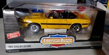 Ertl American Muscle 1969 Shelby GT-500 Yellow Convertible 1:18 Scale New in Box