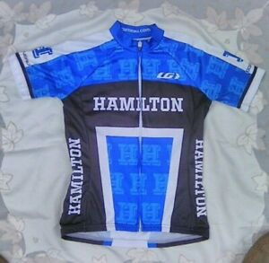 Louis Garneau Hamilton College Bike Cycling Blue & White Unisex size Small
