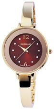 Damenuhr Braun Gold Blume Analog Strass Metall Armbanduhr Quarz D-60463611410650