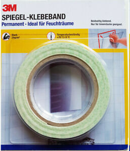 3M Spiegel Klebeband Permanent Doppelklebeband Doppelseitiges Klebeband 4,5 m